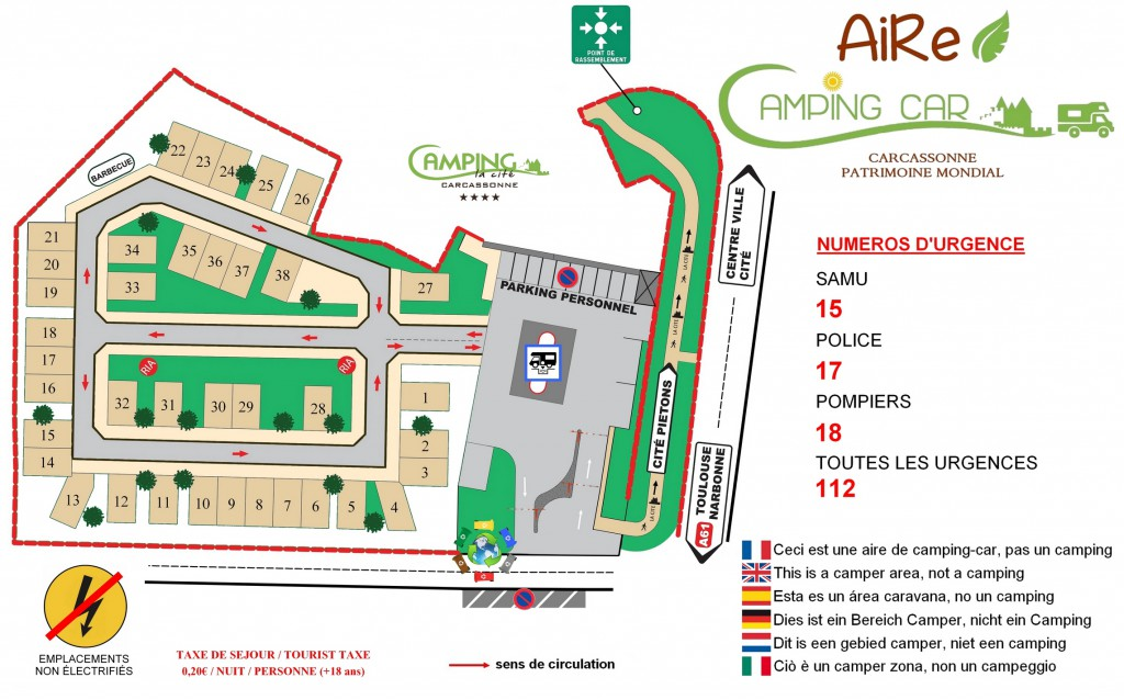 Plan Aire de Camping-car 2019 SITE WEB
